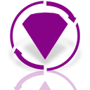 Bejeweled, twist, Mirror DarkMagenta icon