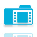 Mirror, Folder, video DarkTurquoise icon
