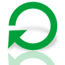 Mirror, restart, power ForestGreen icon