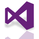 visual, studio, Mirror Purple icon