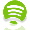 Spotify, Alt, Mirror YellowGreen icon