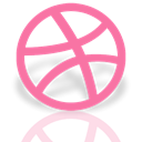 dribbble, Mirror HotPink icon