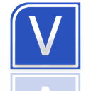 visio, Mirror RoyalBlue icon