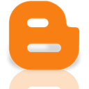 google, Mirror, blogger DarkOrange icon