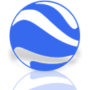 Mirror, google, earth RoyalBlue icon