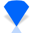 Mirror, Bejeweled DodgerBlue icon