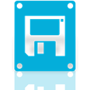 Floppy, Mirror, drive DarkTurquoise icon