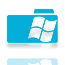 Folder, Mirror, window DarkTurquoise icon