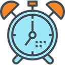 time, Tools And Utensils, alarm clock, Clock, timer, miscellaneous PaleTurquoise icon