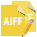 pencil, File, Aiff, Format Goldenrod icon