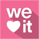 media, set, flat, Weheartit, Shadow, Social PaleVioletRed icon