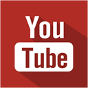 Shadow, Social, youtube, set, flat, media Firebrick icon