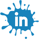 blot, Social, set, media, Linkedin SteelBlue icon