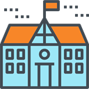 High School, education, college, buildings, Architecture And City, school DarkSlateGray icon
