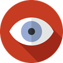 Multimedia Option, show, Healthcare And Medical, optical, Eye, Ophthalmology, Body Part Firebrick icon