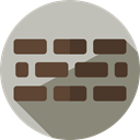 Firewall, Security System, technology, security Silver icon