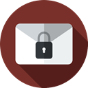 padlock, private, Communications, Mailing, security, Email, envelope SaddleBrown icon