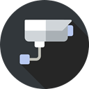 security camera, surveillance, security, cctv, technology DarkSlateGray icon