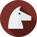 Computer, security, Multimedia, virus, horse, trojan, malware, computing SaddleBrown icon