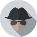 Occupation, Professions And Jobs, user, Man, Agent, job, people, detective, Avatar, profession, spy, malware LightGray icon