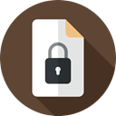 documents, Archive, document, paper, interface, Files And Folders, security, padlock, File, secure DarkOliveGreen icon