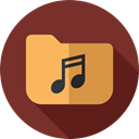 Folder, music, Music And Multimedia, songs, Files And Folders, storage, musical SaddleBrown icon