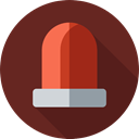 Alarm, security, danger, siren, emergency SaddleBrown icon