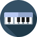 music, Keyboard, Music And Multimedia, Keys, Orchestra, piano, musical instrument DarkSlateGray icon