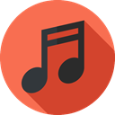 Music And Multimedia, music, music player, Quaver, musical note, song Tomato icon