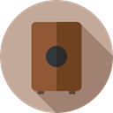 music, Amplifier, Audio Box, Music And Multimedia, speaker, Music Box, sound box Tan icon