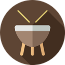 musical instrument, Drum, Drumsticks, Percussion Instrument, music, Music And Multimedia, Orchestra DarkOliveGreen icon