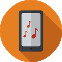 Music And Multimedia, mobile phone, cellphone, smartphone, technology, touch screen, Iphone Chocolate icon