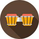 musical instrument, Bongos, Orchestra, Percussion Instrument, Music And Multimedia, music DarkOliveGreen icon