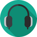 sound, Audio, earphones, Headphones, technology, Music And Multimedia Teal icon