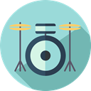 music, Orchestra, Percussion Instrument, musical instrument, Music And Multimedia, Drum LightBlue icon