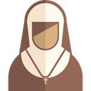 nun, christian, Occupation, job, user, Professions And Jobs, Catholic, Avatar, profession, religious, woman, people Icon
