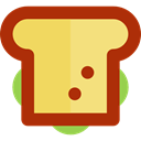snack, Food And Restaurant, Lunch, food, Bread, meal, sandwich Khaki icon