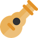 Orchestra, guitar, Music And Multimedia, Acoustic Guitar, musical instrument, String Instrument, music Black icon