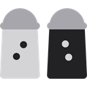 food, Salt And Pepper, Condiment, Spicy, Food And Restaurant LightGray icon