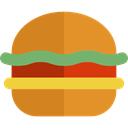 hamburger, Burger, sandwich, food, Food And Restaurant, junk food, Fast food Goldenrod icon