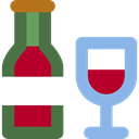wine, food, Food And Restaurant, Celebration, Alcohol, Alcoholic Drinks, Bottle, party, Wine Bottle SkyBlue icon