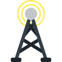 Wireless Internet, antenna, Wireless Connectivity, Communications Black icon