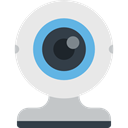 Webcam, electronics, Videocam, Cam, technology, Communications, video chat, Videocall Lavender icon