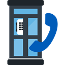 Telephone Box, phone call, Communication, Phone Booth, technology, Communications DarkSlateGray icon