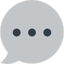 Communications, Multimedia, Chat, Communication, speech bubble, Conversation Silver icon