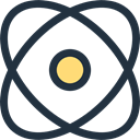physics, education, Electron, nuclear, Atomic, science DarkSlateGray icon