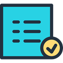 Checklist, paper, check mark, education, checking, list, interface, Checked Turquoise icon