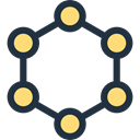 Molecular, Molecule, education, science, Biology, Molecules, nature Black icon