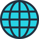 World Grid, Earth Globe, Maps And Location, Geography, worldwide, Earth Grid, Maps And Flags, international, Planet Earth DarkSlateGray icon