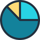 Stats, statistics, graphical, Business, Business And Finance, marketing, Pie chart, finances DarkCyan icon